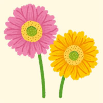 お見舞いの花のイラスト